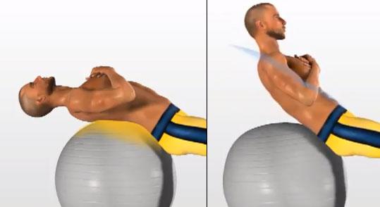 addominali fitball